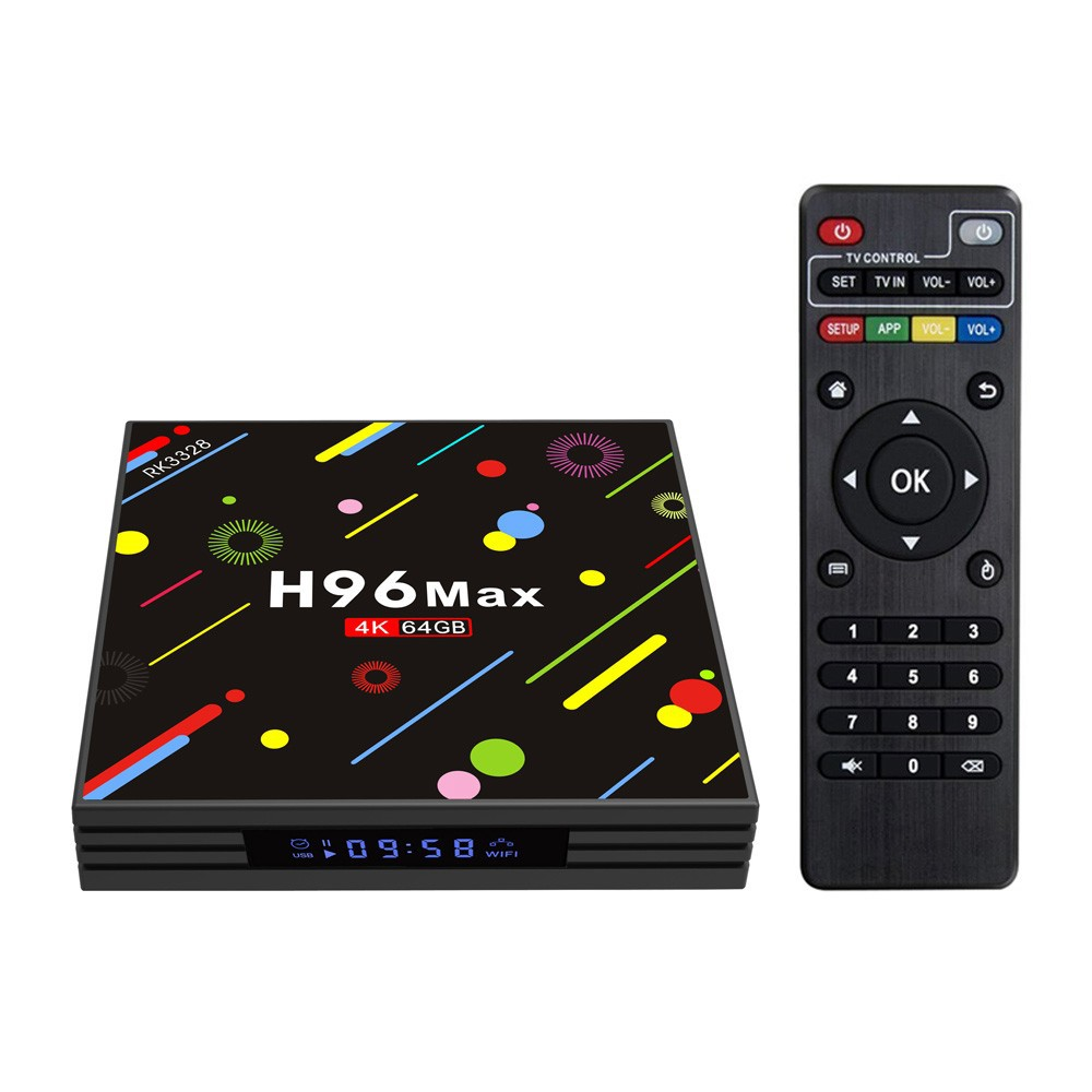 H96 Max-H2 Android 7.1 TVボックス 4K動画再生 4GB / 64GB