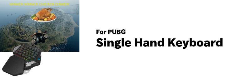 荒野行動 PUBG対応 33キー プログラマブル シングルハンド USB ゲーミングキーボードLEDバックライト T9X