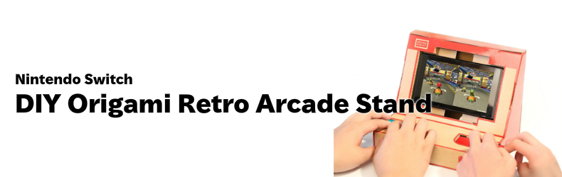 Nintendo Switch DIY 折り紙 アーケード スタンド ブラケット ファミコンカラー