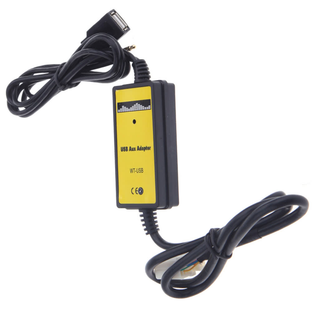 USB AUX Input MP3 CD Adapter Changer Interface Cable SD Reader For Honda Accord