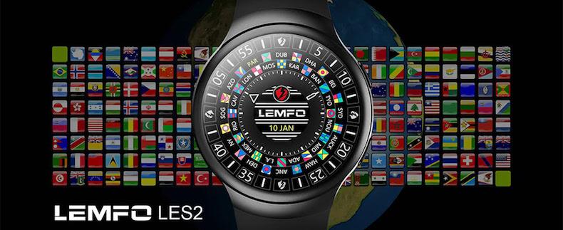 LEMFO LES2 Bluetooth スポーツモニター スマートウオッチ 3G通話 心拍計 歩数 計 気圧計 リマインダー
