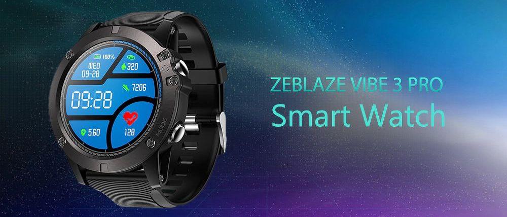 Zeblaze VIBE 3 Pro スマートスポーツウオッチ 歩数計、着信&メッセージ通知、ソーシャルシェアリング