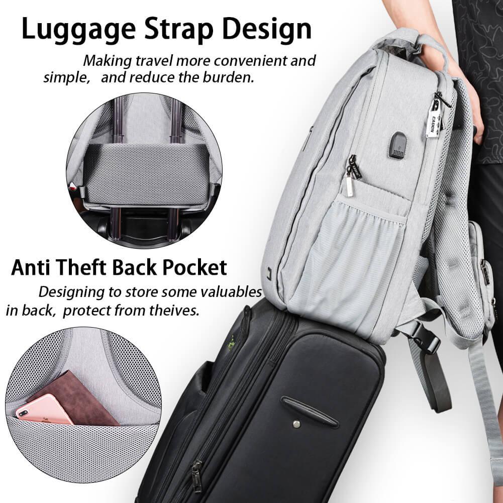 ラゲッジストラップ、スリ防止ポケット