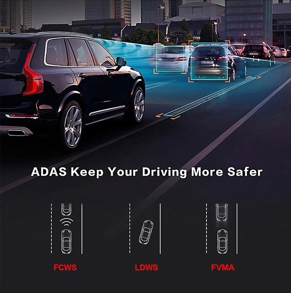 ADAS 車線逸脱警告、前方衝突警告、前方車両出発警告