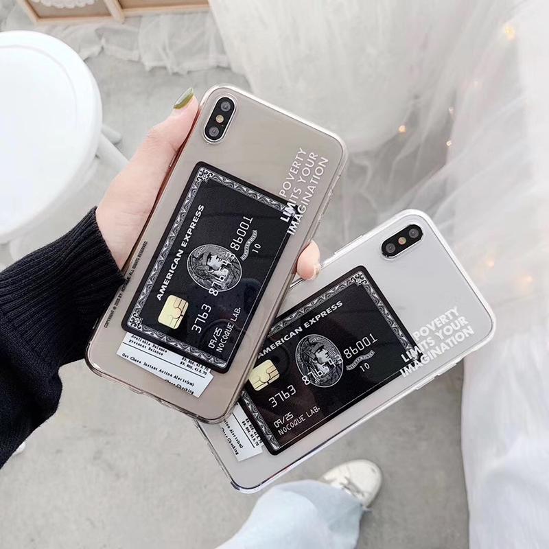 iPhone American Express ブラックカードデザインケース