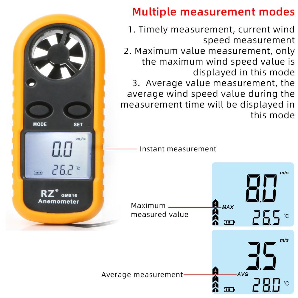 ポータブル 風速計 温度計