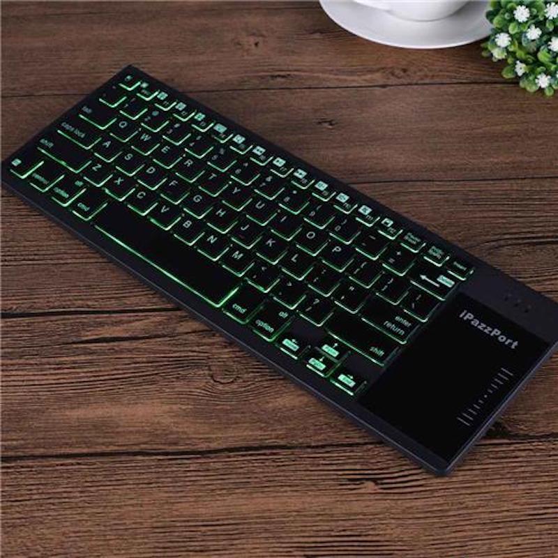 iPazzPort タッチパッド付き 薄型 Bluetoothキーボード