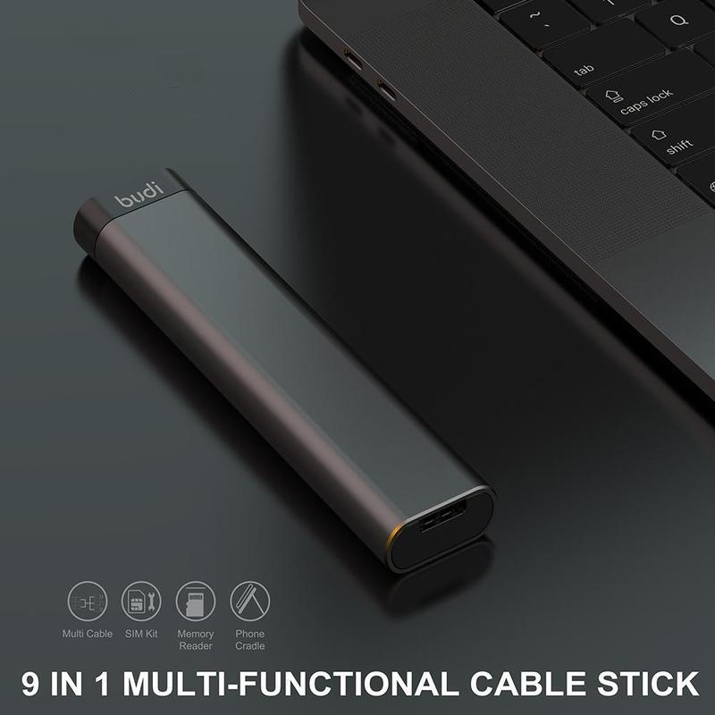 9in1 マルチ SIMカード microSDカードケース カードリーダー ケーブルスティック
