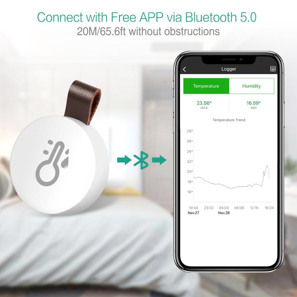ワイヤレス Bluetooth サーモメーター & ハイドロメーター データロガー