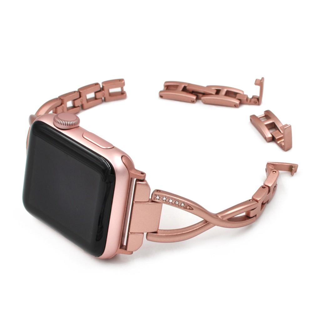 Apple Watch レディース ダイヤモンド ジュエリー ステンレスバンド