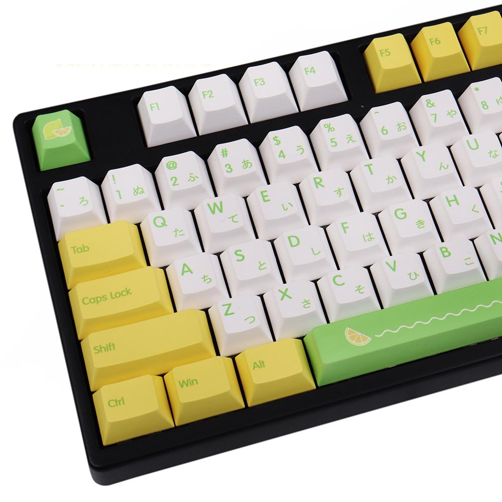 135キー DYE-SUB プロファイル日本語 かな キーキャップ Cherry MX スイッチ メカニカルキーボード対応