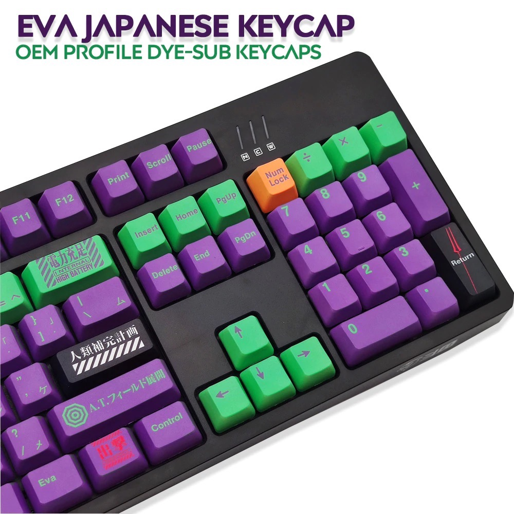 117キー DYE昇華刻印 OEMプロファイル日本語 かな PBTキーキャップ Cherry MX スイッチ メカニカルキーボード対応