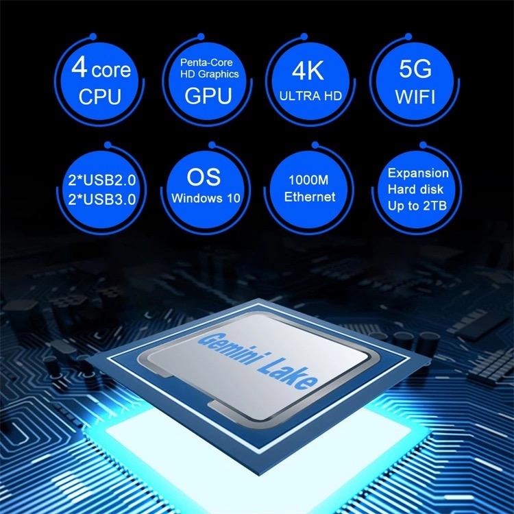 Windows 10 コンパクト デスクトップ PC Intel Celeron J4125