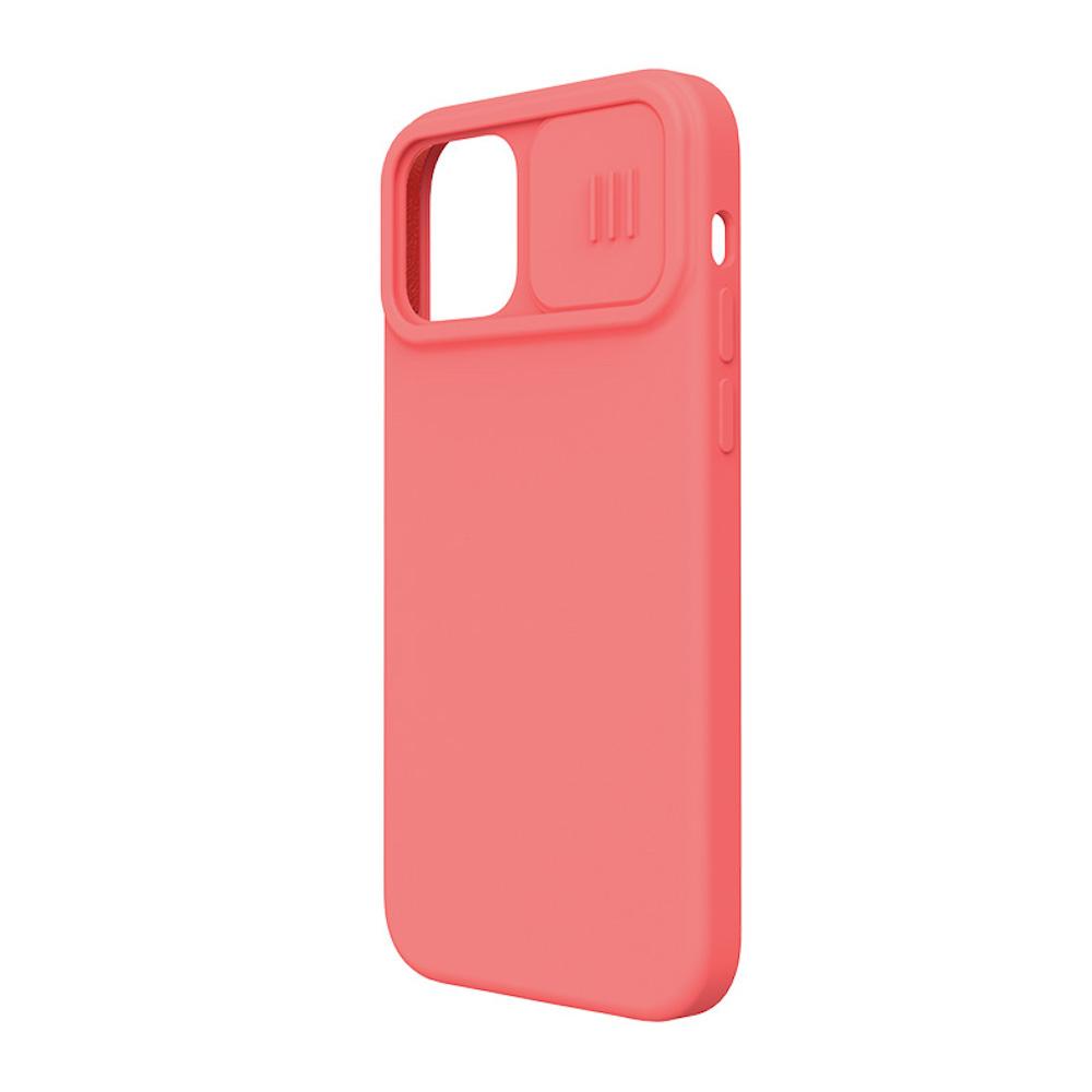 iPhone 12 対応 リキッドシリコン スライド レンズカバー付き ケース