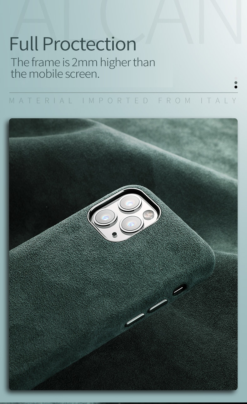 iPhone 11 12 アルカンターラケース