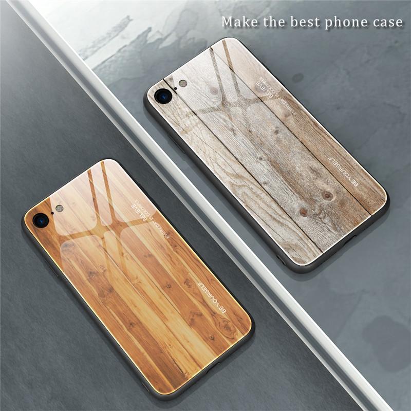 iPhone 対応 ナチュラル ウッドグレーン デザインケース