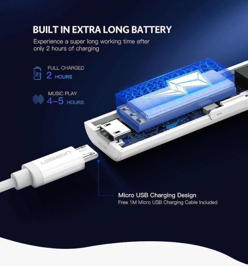 Bluetooth 5.0 ワイヤレス オーディオレシーバー APTX LL対応 3.5mm AUXジャック