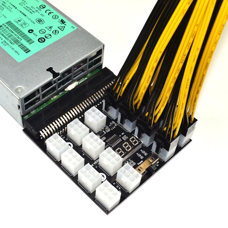 6 Pin x 17 電源ブレイクアウトボード 1200W/750W 12V