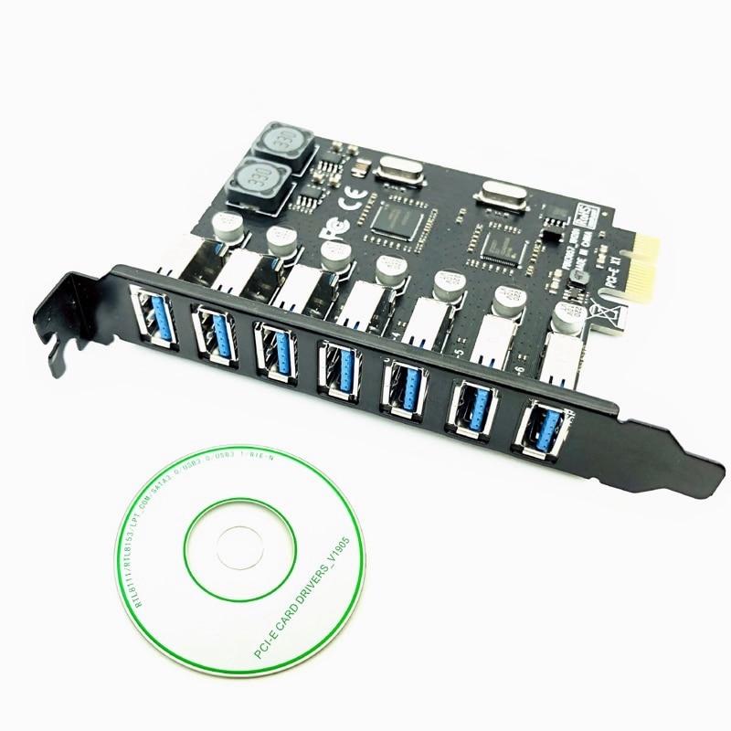 7ポート USB 3.0 PCI-E拡張ボード