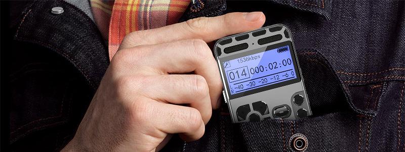 薄型ボイスレコーダー MP3音楽プレーヤー ボイスアクティベーション ノイズリダクション