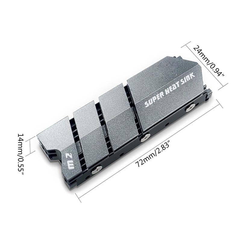 M.2 2280 SSD NVMe NGFF アルミニウム ヒートシンク サーマルガスケット