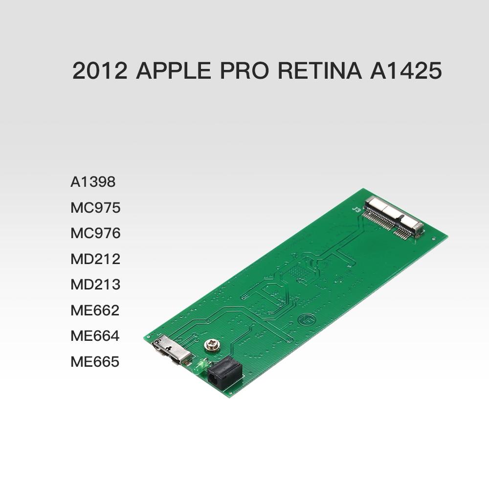 2012 Apple MacBook Pro Retina A1425 A1398 MC975 MC976 MD212 MD213 ME662ME664 ME665 mSATA SSD対応 USB 3.0外付けケース