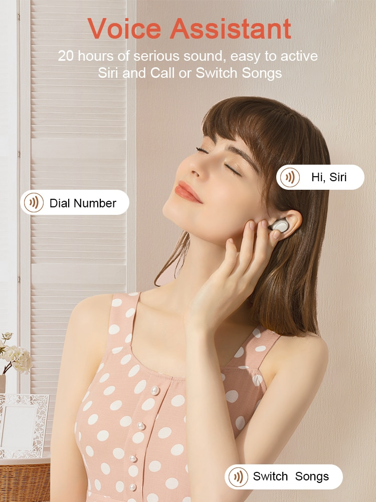 Bluetooth 5.0 TWS キャンディー ワイヤレスイヤホン Android iOS対応