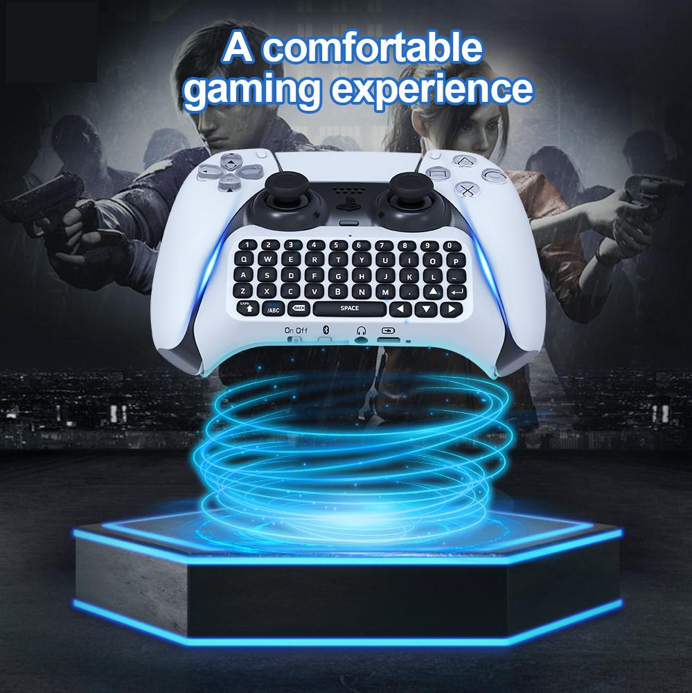 PlayStation 5 コントローラー用 Bluetooth ワイヤレスキーボード