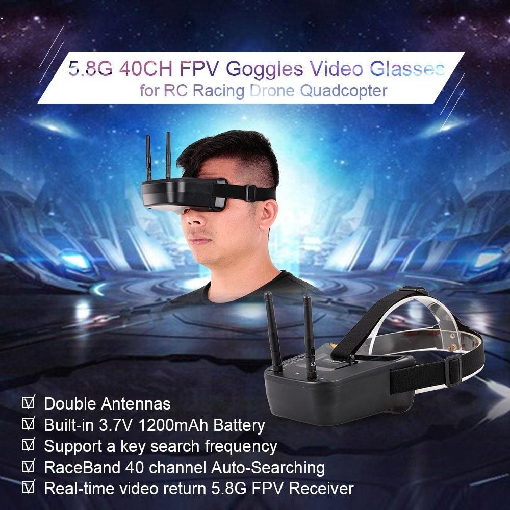 5.8GHz 40CH FPVゴーグル デュアルアンテナ ビデオグラス