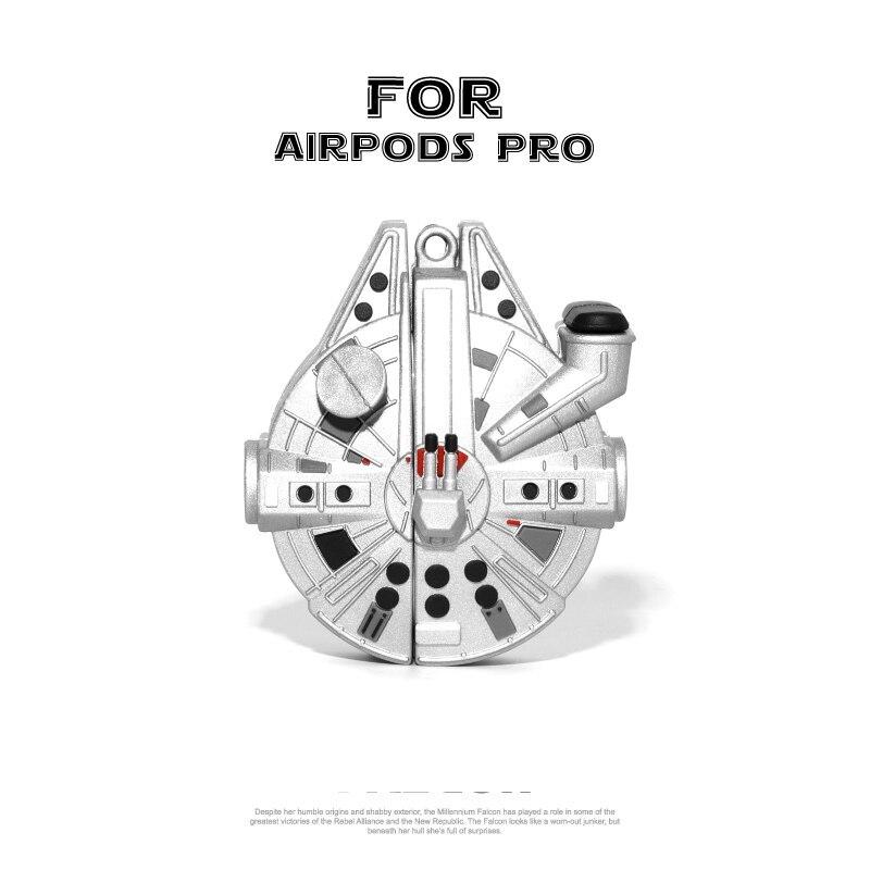 Apple AirPods 1 2 Pro ソフトシリコンケース スペースシップ ミレニアムファルコン